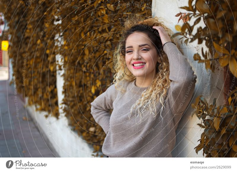 smiling woman in outdoor Lifestyle Joy Wellness Feminine Young woman Youth (Young adults) Plant Tree Fashion Observe To enjoy Smiling Laughter Fantastic