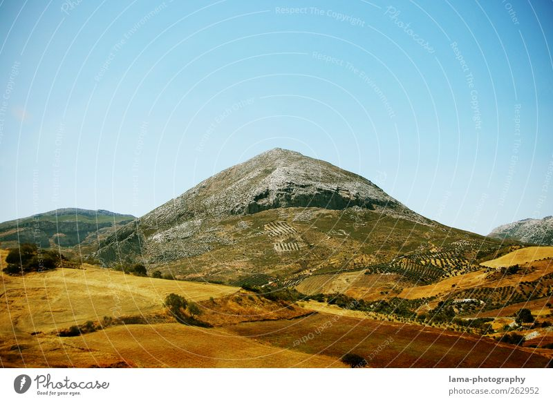 Nature Landscape Mountain Field Rock Point Hill Peak Spain Andalucia Malaga Sierra Nevada Antequera