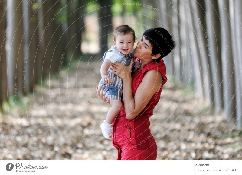 Mother and daughter in poplar Child Human being Nature Colour Landscape Tree Leaf Joy Forest Girl Street Adults Autumn Natural Lanes & trails Feminine