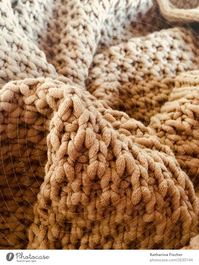 Knitted Sweater Jacket Soft Wool Knitting pattern Rope Heat Sewing thread knitwear Loop Cuddly Blanket Pattern Structures and shapes Subdued colour Close-up