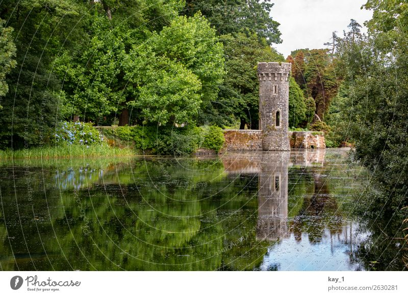 Old Summer Green Water Landscape Tree Calm Forest Garden Lake Contentment Esthetic Tower Tourist Attraction Protection Castle
