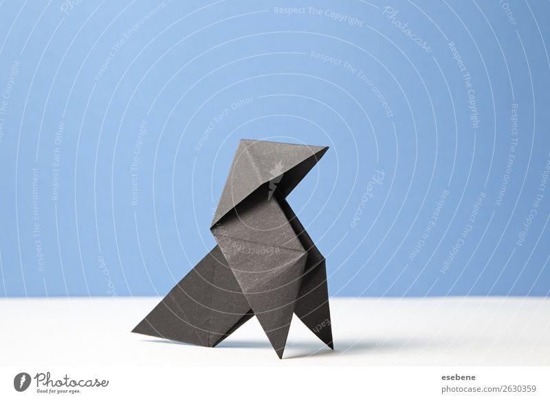 Bow of origami art Design Leisure and hobbies Handcrafts Freedom Decoration Craft (trade) Bird Make Simple Blue Belief Religion and faith Idea Creativity