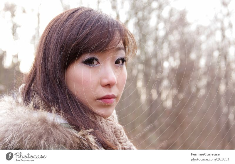 Girl lost in the woods. III Feminine Young woman Youth (Young adults) Woman Adults Head 1 Human being 18 - 30 years Leisure and hobbies Tree Forest Clearing