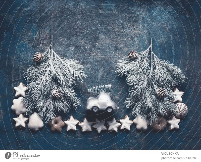 Christmas & Advent Joy Winter Background picture Snow Feasts & Celebrations Style Design Decoration Retro Shopping Tradition Hip & trendy Christmas tree