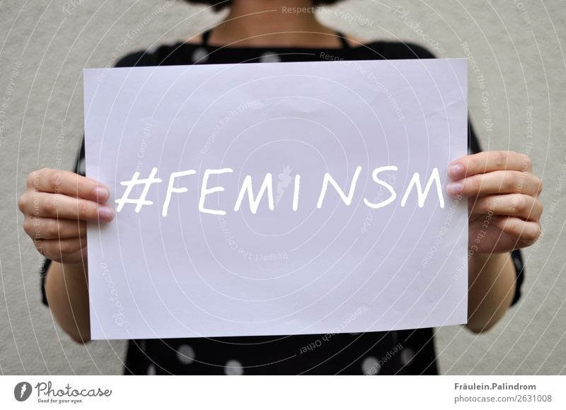 feminism Feminine Young woman Youth (Young adults) Woman Adults 1 Human being Write Self-confident Optimism Power Might Sex Sexuality Emancipation Equal