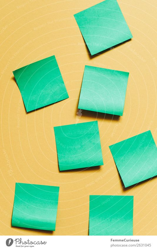 Green Yellow Creativity Empty Paper Write Piece of paper Stationery Brainstorming