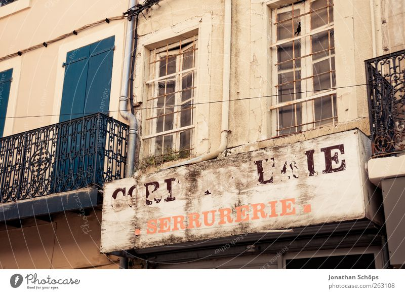 Narbonne XIV France House (Residential Structure) Manmade structures Building Architecture Facade Old Signs and labeling Characters Letters (alphabet) Flake off