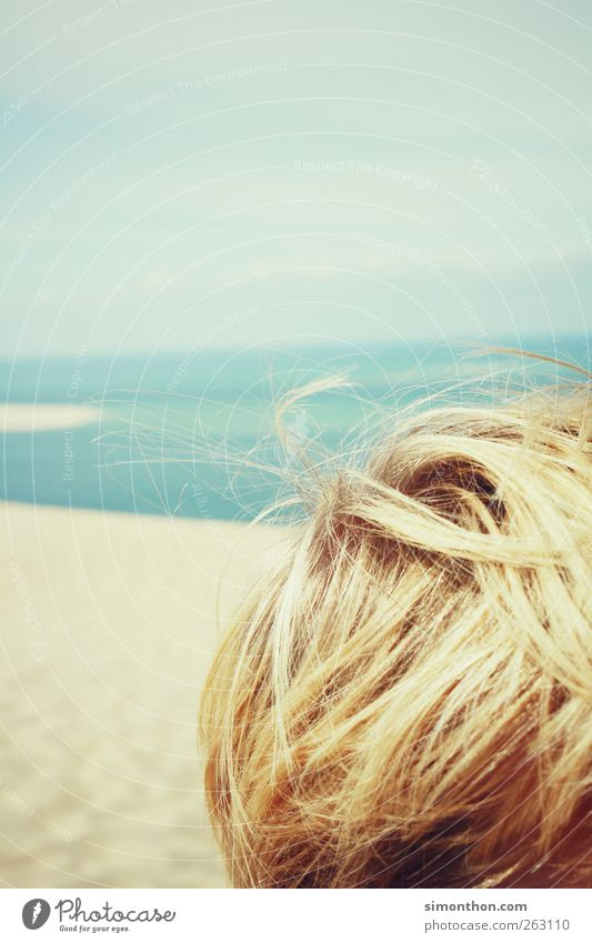 blonde 1 Human being Contentment Summer vacation Sunlight Beach Ocean Vacation & Travel Vacation photo Vacation mood Yellow Hair and hairstyles Blonde Detail