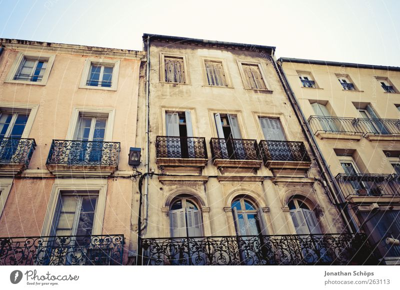 Narbonne XV City trip Summer France Southern France House (Residential Structure) Manmade structures Building Architecture Facade Balcony Window Old Esthetic