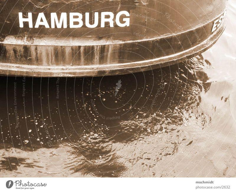 Water Watercraft Hamburg Harbour Sepia