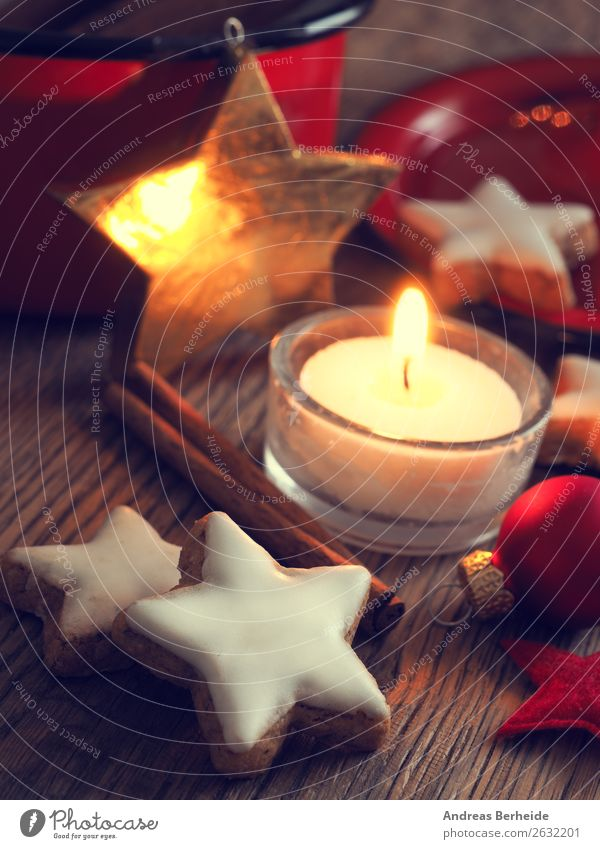 Christmas & Advent Winter Background picture Religion and faith Yellow Style Feasts & Celebrations Decoration Star (Symbol) Herbs and spices Candle