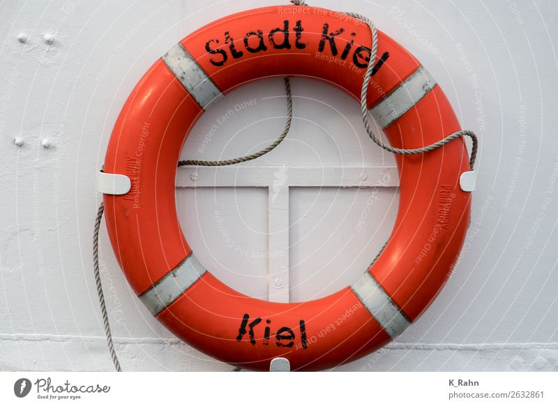 """city of Kiel Town Port City Harbour Navigation Inland navigation Boating trip Steamer Ferry On board Vacation & Travel Orange Safety Target """"ship,f shipping"""