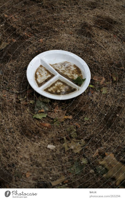White Brown Earth Dirty Elements Round Plastic Division Crockery Plate Bowl Plastic packaging Object photography Swinishness Shackled Packaging material
