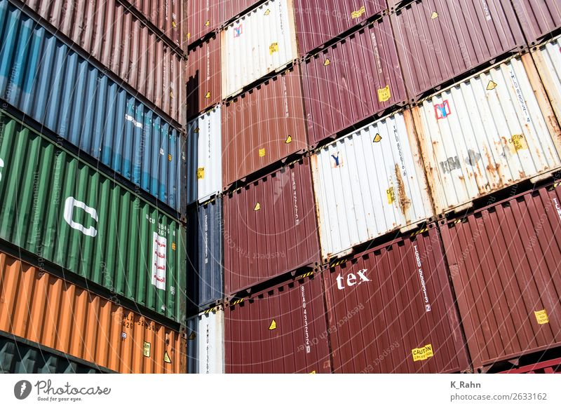 "Containers in the Port of Hamburg Economy Industry Trade Logistics Navigation Inland navigation Container ship Shopping ""container Business cargo"