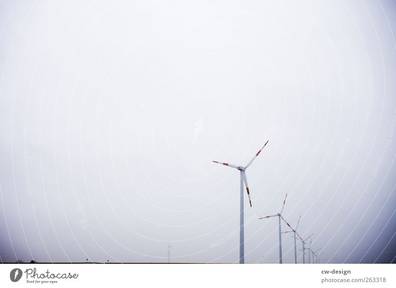 A windmill is a windmill is a windmill Energy industry Renewable energy Wind energy plant Sky Deserted Rotate Bright Cold Blue Gray White Pinwheel Wing