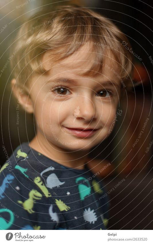 Portrait of a funny child at home Joy Happy Beautiful Face Playing Child Baby Boy (child) Infancy Blonde Smiling Laughter Happiness Small Funny Cute White