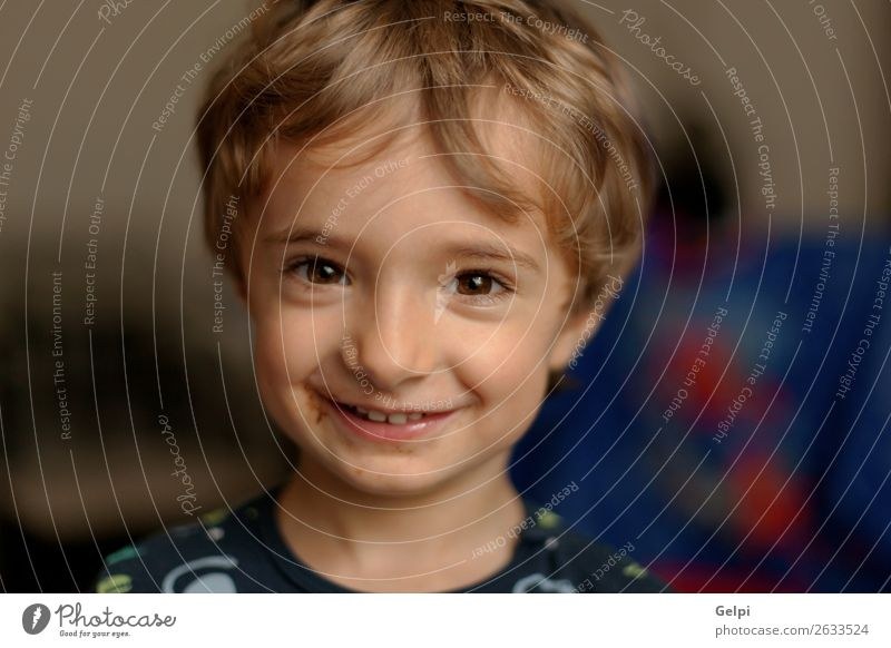 Portrait of a funny child at home Child Colour Beautiful White Joy Face Funny Laughter Happy Boy (child) Small Playing Blonde Infancy Smiling Happiness