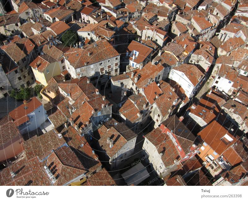 Old City Red Vacation & Travel House (Residential Structure) Exceptional Roof Kite Aerial Photography