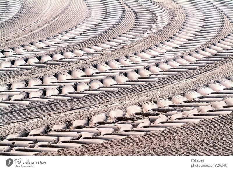 Sand Perspective Tracks France Curve Vehicle Drought Tractor