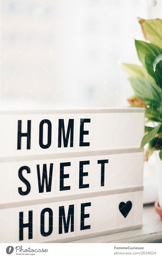 "Lightbox with the words ""home sweet home"" Characters Living or residing Decoration lightbox Letters (alphabet) House (Residential Structure) Flat (apartment)"