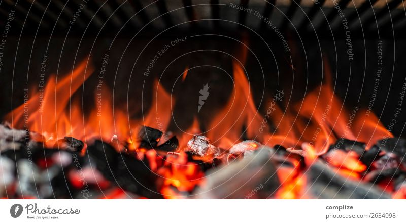 charcoal fire embers | panorama Nutrition Vacation & Travel Summer BBQ Barbecue (apparatus) Rust Grill Embers Fire Warmth Hot Meat Panorama (Format) header