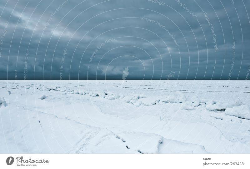 Sky Nature Blue Ocean Beach Loneliness Clouds Winter Landscape Environment Dark Cold Snow Coast Horizon Ice