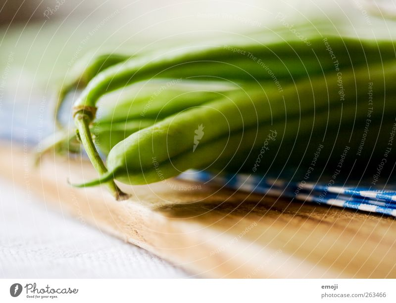for lunch Vegetable Nutrition Lunch Organic produce Vegetarian diet Diet Green Healthy Eating Beans Chopping board Colour photo Interior shot Close-up Detail