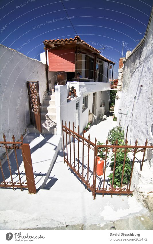 16qm + concrete garden = 500€warm Relaxation Calm Vacation & Travel Summer vacation Cloudless sky Beautiful weather Village Fishing village Old town