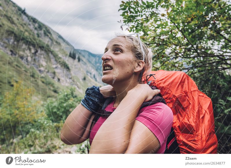 Nature Vacation & Travel Youth (Young adults) Young woman Beautiful Landscape Mountain 18 - 30 years Lifestyle Adults Leisure and hobbies Hiking Blonde Power