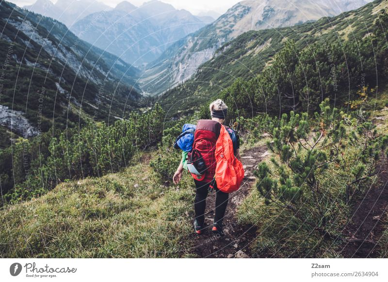Nature Vacation & Travel Youth (Young adults) Young woman Landscape Loneliness Forest Far-off places Mountain 18 - 30 years Adults Environment Movement Hiking