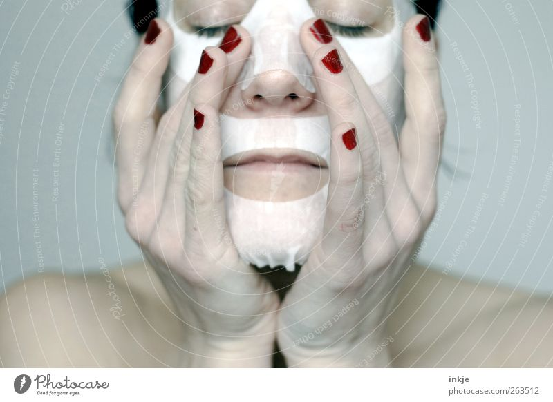 Human being Woman Hand White Beautiful Red Face Adults Relaxation Life Feminine Emotions Wait Wet Fresh Clean
