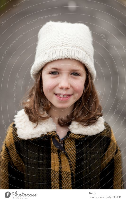 c7f8671cf37 Beautiful girl with wool hat at winter - a Royalty Free Stock Photo from  Photocase