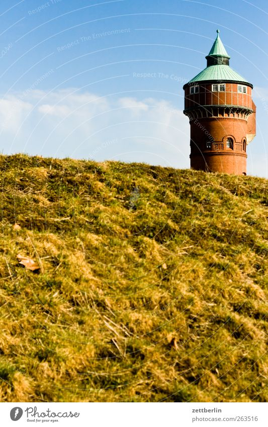 water tower Environment Nature Landscape Plant Sky Spring Summer Weather Beautiful weather Deserted Castle Tower Manmade structures Building Window Water tower