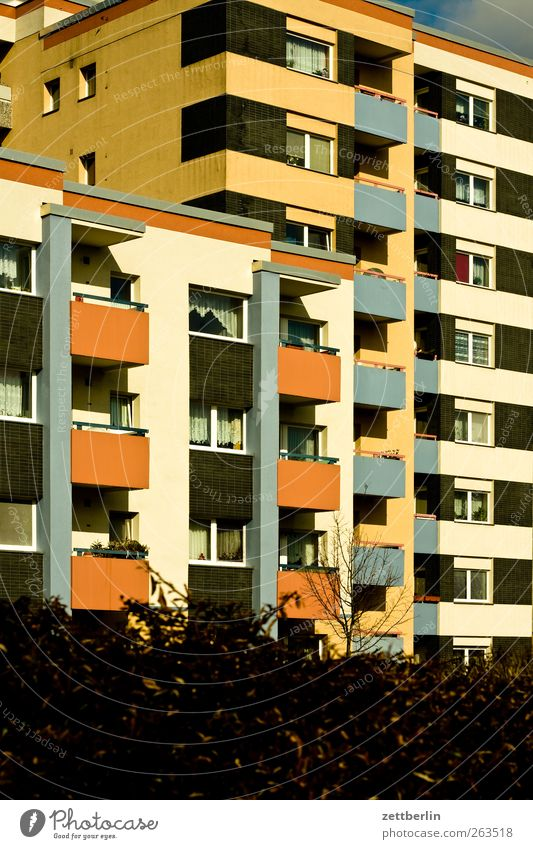 House (Residential Structure) Wall (building) Architecture Wall (barrier) Building Facade High-rise Manmade structures Balcony Prefab construction Sharp-edged
