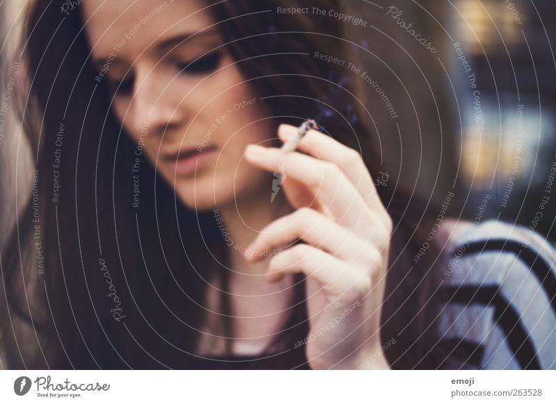 Human being Youth (Young adults) Hand Beautiful Face Adults Feminine 18 - 30 years Young woman Smoking Cigarette Retentive Smoky Cigarette smoke