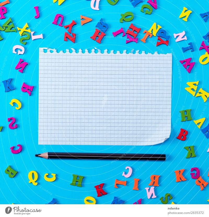 white sheet torn from a notebook Child Blue Colour Green White Red Joy Black Wood Yellow Natural Art School Pink Office Decoration