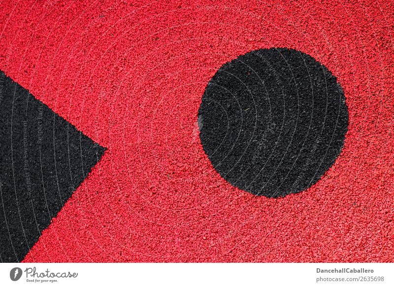 The wonderful world of geometry l 9 Sign Line Circle Dirty Sharp-edged Round Red Black Design Creativity Symmetry Structures and shapes Geometry Point Abstract