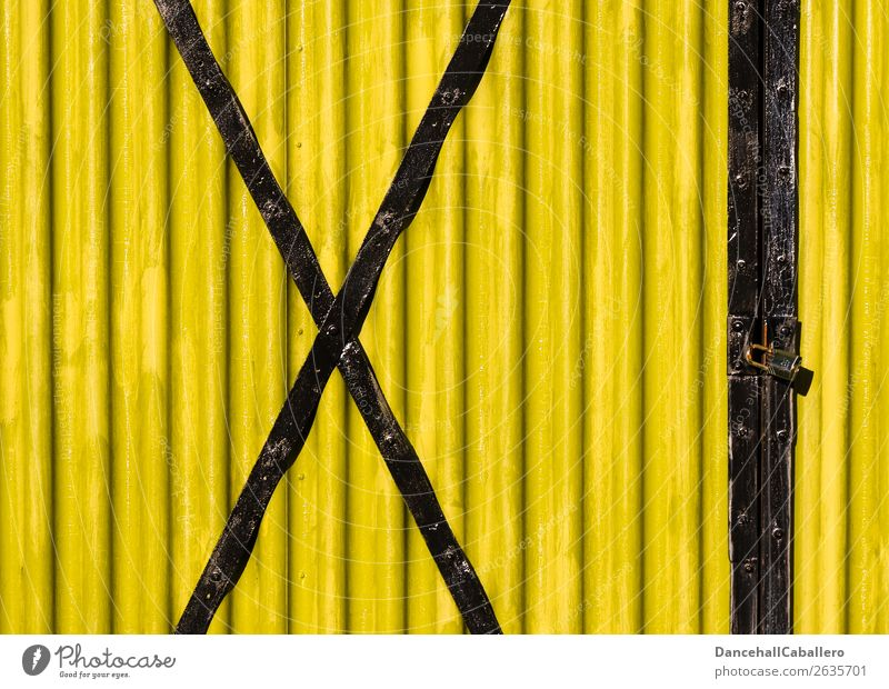 X l Industry Metal Steel Sign Digits and numbers Sharp-edged Simple Retro Yellow Black Colour Perspective Politics and state Protest Symmetry Future