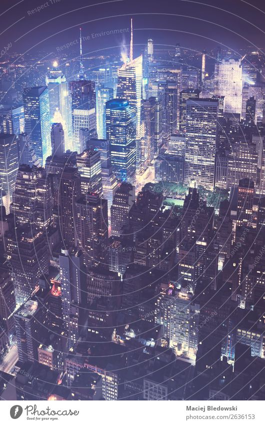 New York City at night, USA. Downtown Skyline Populated Overpopulated House (Residential Structure) High-rise Bank building Building Architecture Wall (barrier)