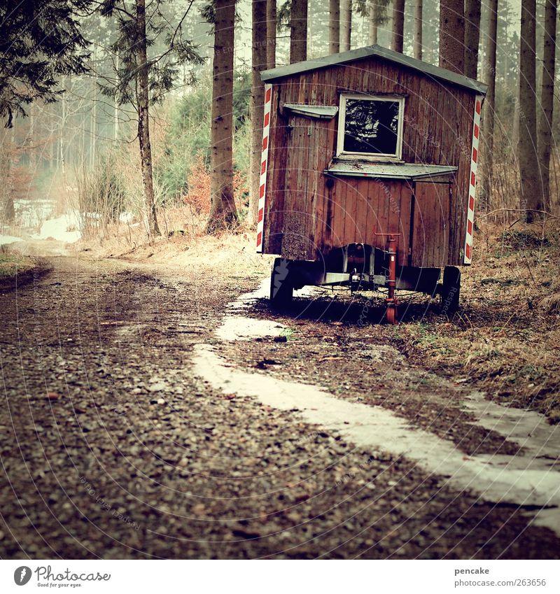 of weigh Axe Nature Landscape Allgäu Lanes & trails Caravan Site trailer Trailer Moody Idyll Mobility Storage area Lunch hour Break Snow melt Wooden hut