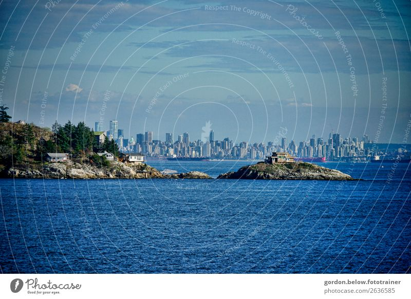 #Canada /Skyline Vancouver Luxury Vacation & Travel Tourism Trip Adventure Far-off places Expedition Landscape Plant Elements Water Clouds Bushes Rock Coast