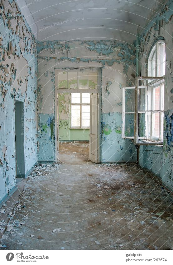 when you close a door Deserted House (Residential Structure) Dream house Manmade structures Building Architecture Wall (barrier) Wall (building) Window Door