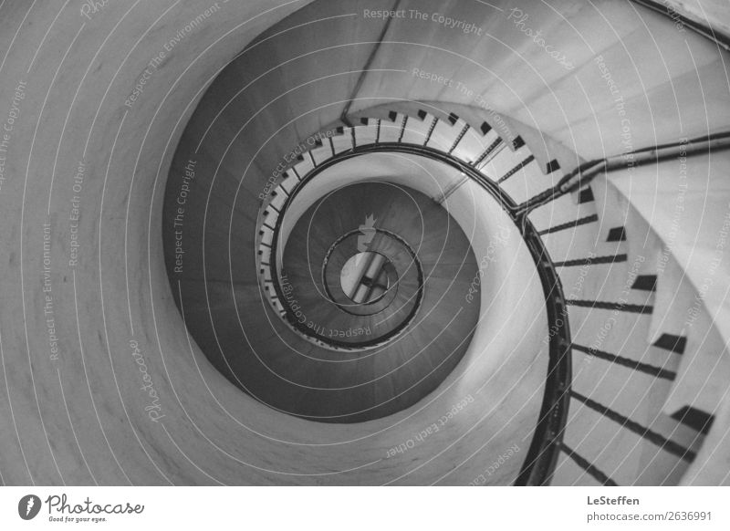 Turbine staircase SW Lyngvig Denmark Tower Lighthouse Manmade structures Architecture Stairs Tourist Attraction Landmark Stone Concrete Wood Metal Esthetic