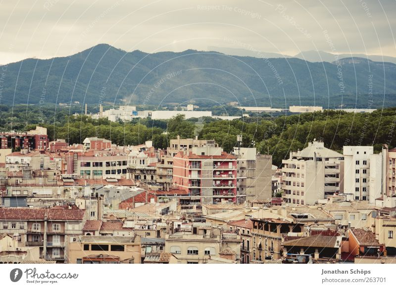 Girona III Far-off places City trip Landscape Mountain Spain Catalonia Town Populated House (Residential Structure) Esthetic Vantage point Travel photography