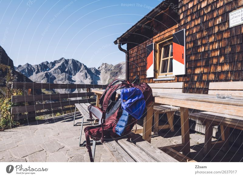 Sky Vacation & Travel Blue Landscape Red Loneliness Mountain Natural Trip Leisure and hobbies Hiking Adventure Beautiful weather Tall Peak Break
