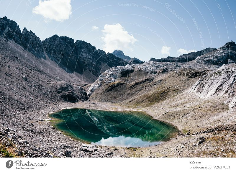 Upper Lake District | Sea Chart Adventure Hiking Nature Landscape Summer Beautiful weather Alps Mountain Peak Mountain lake Gigantic Tall Sustainability Natural