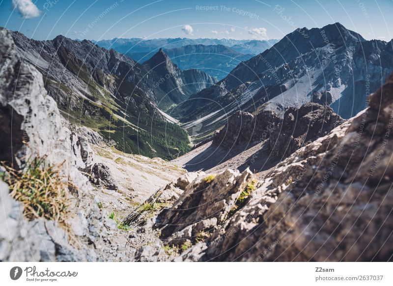 Zamer hole in the Lechtal Alps | E5 Adventure Mountain Hiking Nature Landscape Sky Summer Beautiful weather Peak Gigantic Infinity Tall Blue Green Freedom
