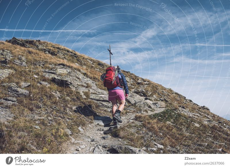 Nature Vacation & Travel Youth (Young adults) Young woman Landscape Mountain 18 - 30 years Adults Trip Leisure and hobbies Hiking Power Adventure