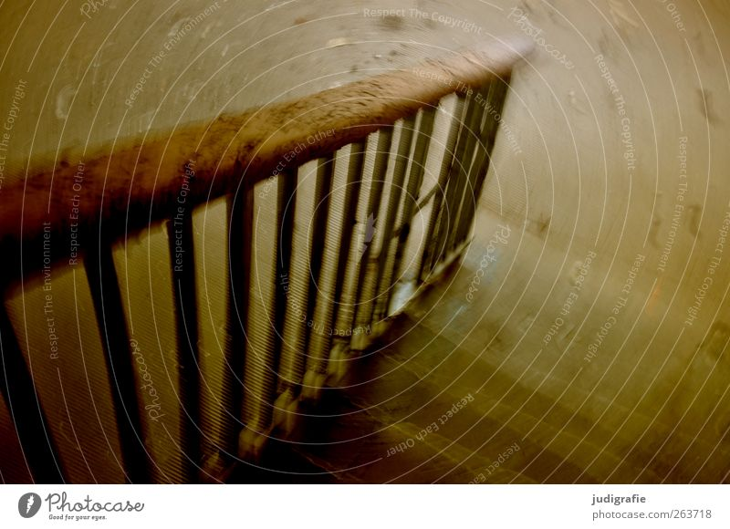 Wood Movement Moody Brown Fear Stairs Change Transience Handrail Creepy Past Decline Banister Downward