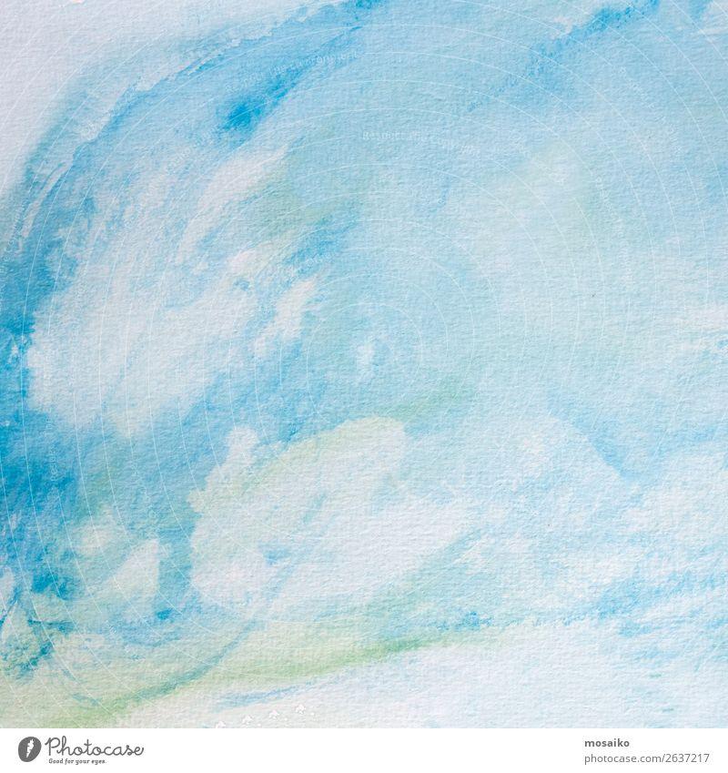 Child Blue Relaxation Calm Style Art School Design Contentment Leisure and hobbies Bright Creativity Joie de vivre (Vitality) Paper Painting (action, artwork)